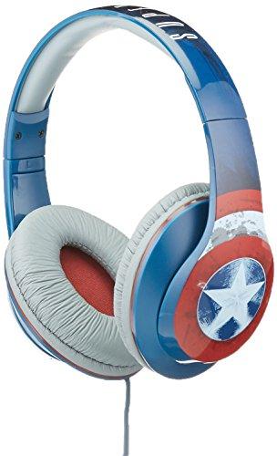 ekids Vi-M40CA Marvel Captain America Kopfhörer mit Mikrofon und Musiksteuerung größenverstellbar rot/weiß