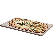 Santos Grills - Piedra de horno para pizzas (apta para horno o barbacoa de gas, anchura de 1 cm, piedra cordierita, 45 x 35 cm)