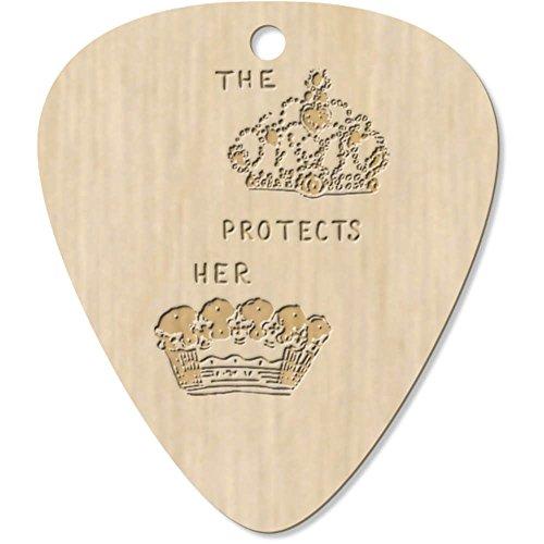 Azeeda 7 x 'Queen Protects Her King' Guitarra Púa (GP00012016)