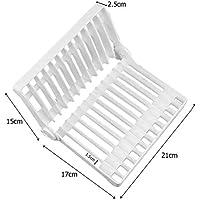 JJOnlineStore – Plegable Multiusos Cocina Escurridor Plato Organizador de cubiertos para rack titular de plástico para