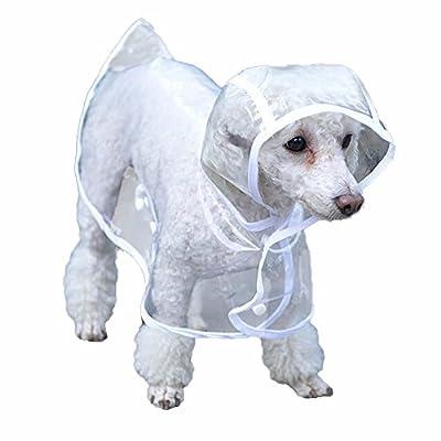 Bunty Dog Puppy PVC Waterproof Clear Transparent Rain Coat Jacket Hood Hooded by Bunty