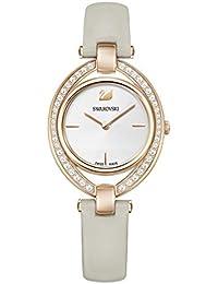 Swarovski Womens Analogue Classic Quartz Watch with Leather Strap 5376830