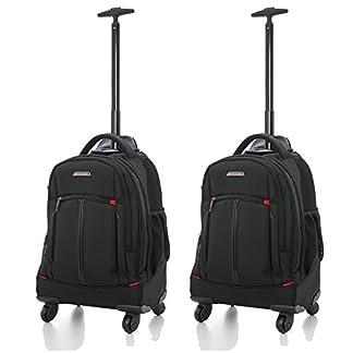 Aerolite 21″/ 55cm Trolley Mochila Equipaje Cabina Laptop Bolso – Aprobado para Ryanair, Easyjet, BA y Jet2, Negro