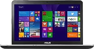 "PC Portable - ASUS N751JX-T4120T - Intel Core i7-4720HQ 8 Go SSD 128 Go + HDD 1 To 17.3"" LED NVIDIA GeForce GTX 950M Graveur DVD Wi-Fi AC/Bluetooth Webcam Windows 10 64 bits (garantie constructeur 2 ans)"