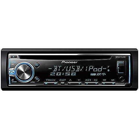 Pioneer DEH-X5800BT - Radio CD con sintonizador RDS, Bluetooth, entrada auxiliar y USB