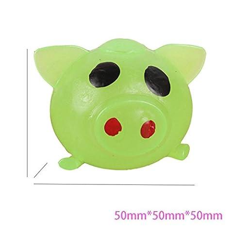 BURFLY ☀☀1Pc Anti-Stress Dekompression Splat Ball Vent Toy Smash Verschiedene Stile Schwein Spielzeug (Farbe zufällig)