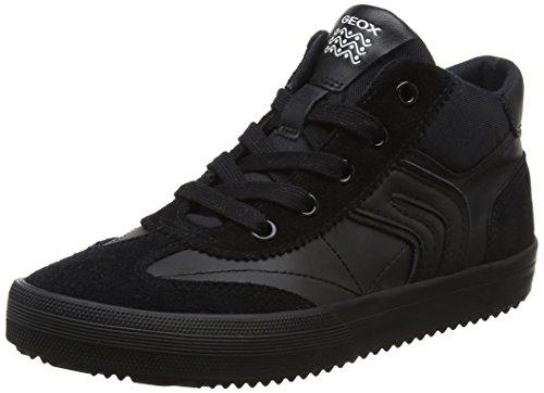 Geox Jungen J Alonisso Boy C Hohe Sneaker, Schwarz (Black), 32 EU
