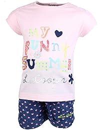 Lee Cooper Juntos Camiseta Mangas cortas y Pantalones corte Bebé Niñas My Funny Summer