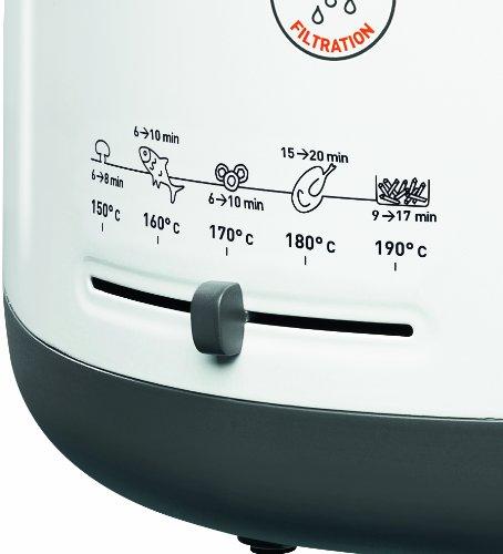 Tefal FF1631 Fritteuse One Filtra / 1.900 Watt / wärmeisoliert/ 1,2 kg Fassungsvermögen / weiß/anthrazit - 3