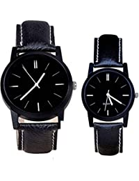 Gopal Shopcart New Stylish Attractive All Black Combo Watch For Couple -Girls Watch -boy Watch Watch - For Boys...