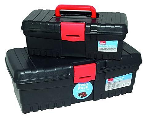 Hilka Tools hb1612Hobby 16+ 30,5cm Werkzeugkoffer Set, schwarz (Hinten Werkzeugkasten)