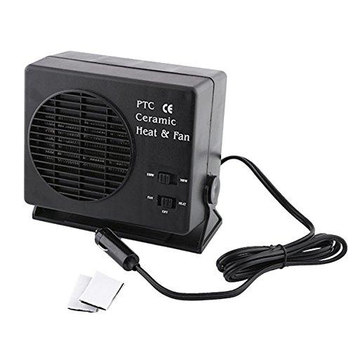 dDanke - Calefactor portátil para vehículos (12V, 150/300W, función ventilador), color negro