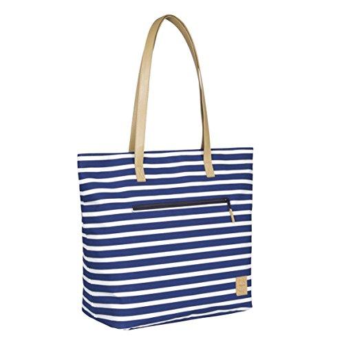 Lässig ltob10376Casual Tote Bag Striped azul