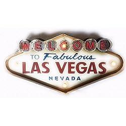 Cartel Las Vegas vintage Letrero metálico luminoso Artesanías Accesorios Decoración Hogar Welcome Travel Nevada