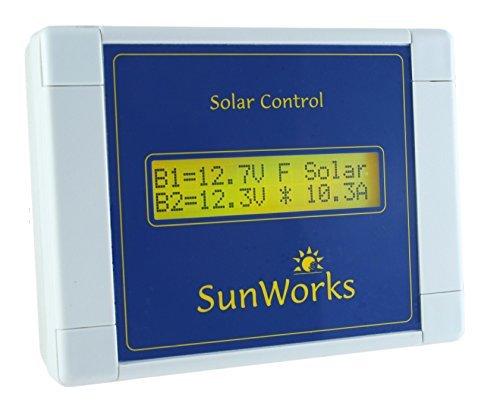 170 Watt-solar-panel (Solar Panel Laderegler Regulator Doppelbatterie für Wohnmobile und Boote. Sunworks DB1C 11 Ampere (170 Watt). Intelligente Automatik PWM Solarladevorgang. Hellgrau.)