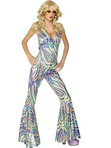 Dancing Queen Costume Woman Fancy Dress (70er Jahre Disco Lady Kostüm)