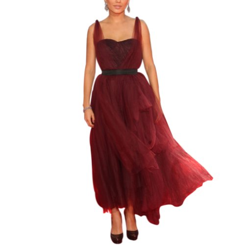 GEORGE BRIDE charmante Traeger Mode Abendkleid, Groesse 48, Braun