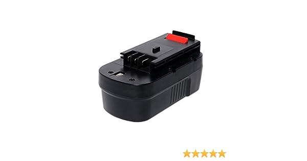 GatoPower HPB18 Replacement pour Black and Decker 18V 3Ah Battery Ni-Mh HPB18-OPE FS18BX Firestorm A18 CDC18GK2 NST2018 FS180BX XTC183BK BD18PSK EPC18K2 Outil Sans fil