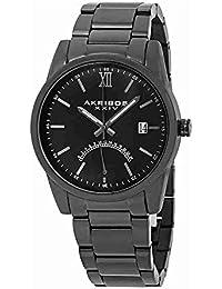 Akribos XXIV Men's Quartz Stainless Steel Casual Watch, Color Black (Model: AK962BK)