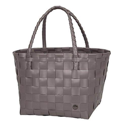 Unek Goods Handed By Paris Woven Reusable Shopping Tote Bag, Stone Brown