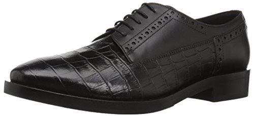 Geox Donna Brogue B, Zapatos de Cordones Derby para Mujer, Black C9999, 37 EU