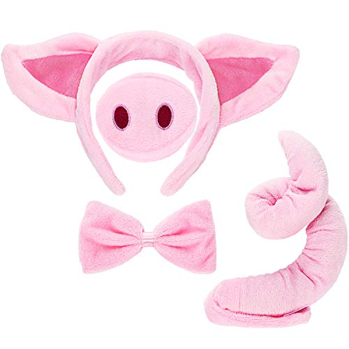 Pig Costume Set Pig Ears Nose Ta...