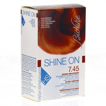 bionike shine on hs 745 blond grenade 1 tube coloration 50ml 1 flacon rvlateur - Coloration Eclaircissante Blond
