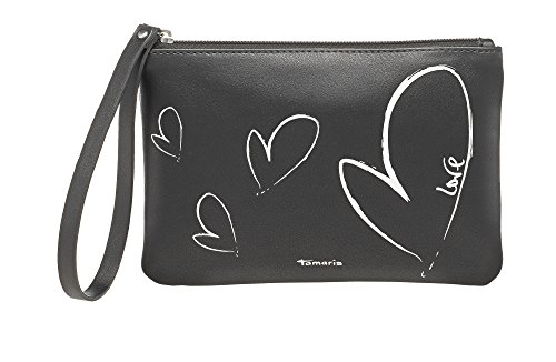 Tamaris KENDRA POUCH Beutel Damen 7905172-042 elegante kleine Handgelenktasche Abendtasche in Black Metallic