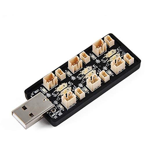 Auto telecomando rc auto-TianranRT♕ Scheda caricabatterie USB 1S 3.7V / 4.20V 6 canali Lipo LiHv per batteria modello RC,Multicolo