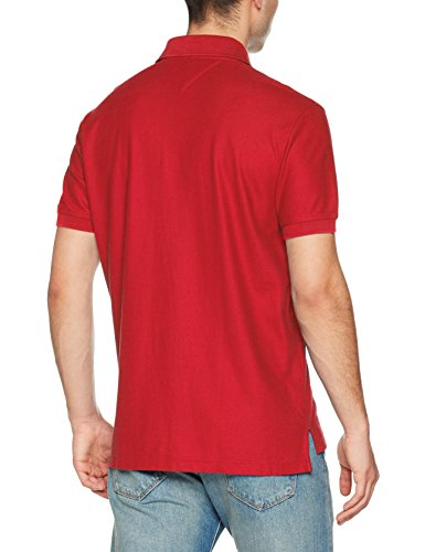 Tommy Hilfiger Herren Poloshirt Hilfiger Regular Polo Rot (Barbados Cherry  619) ...