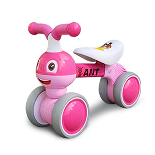 JN Kinder Walker, Kinder Twist Car 1-3 Jahre alt Baby-Yo-Auto Scooter Baby-Waage Auto Stepper Mutter Auto (Color : Pink)