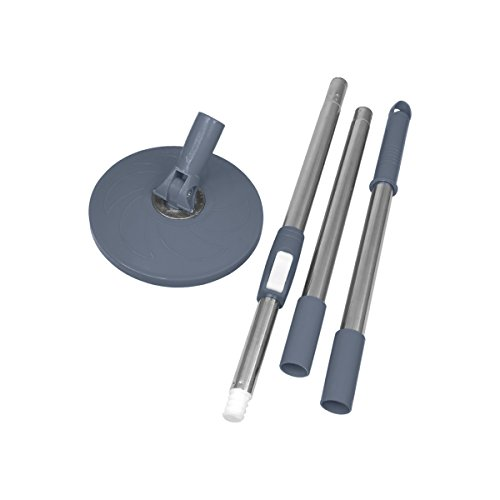 Primeway Magic Spin Mop 3 Section Clip Lock Handle Rod Set with Disc, Grey  available at amazon for Rs.379