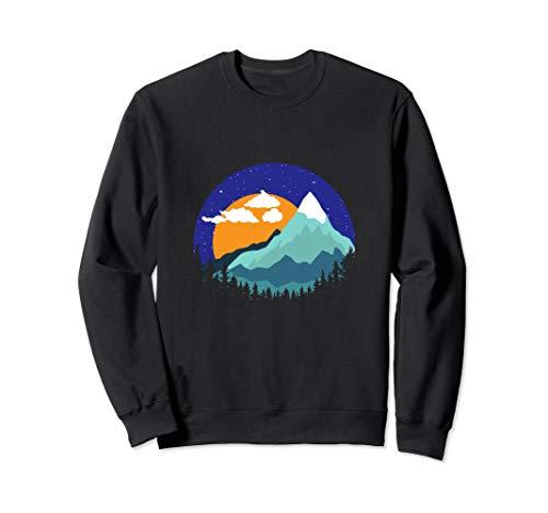 Berge Gipfel Sonnenuntergang Geschenk Sweatshirt -