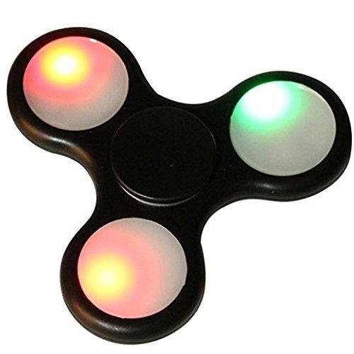 LED Light Fidget Hand Spinner,Bescita LED Light Fidget Hand Spinner Torqbar Finger Toy EDC Focus Gyro Fast Shipping (Black)