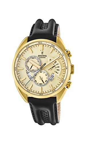 Festina Mens Chronograph Quartz Connected Wrist Watch with Leather Strap F20268/1