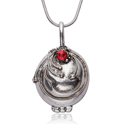 Halskette von vampire diaries Schmuck von Elena Gilbert öffnen Color Silber–High Quality
