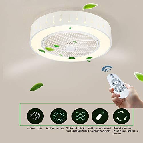 Wandun Deckenventilator mit Beleuchtung LED Deckenleuchte Runde Fan kreative Deckenlampen Dimmbar deckenventilator fernbedienung Indoor Kinderzimmer Wohnzimmer Schlafzimmer Küche Leuchte [Energieklass