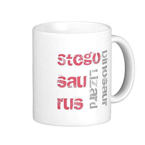 Kaffeetasse Stegosaurus, 312 ml, Schwarz/Weiß