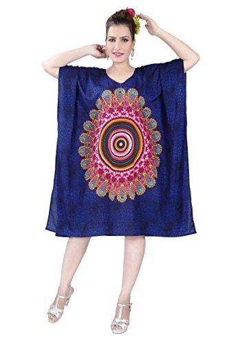 BEDI'S -  Vestito  - Tunica - Maniche lunghe  - Donna Navy blue