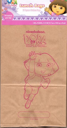 Brown Lunch Bags - Dora The Explorer by Nickelodeon - Dora Lunch Bag