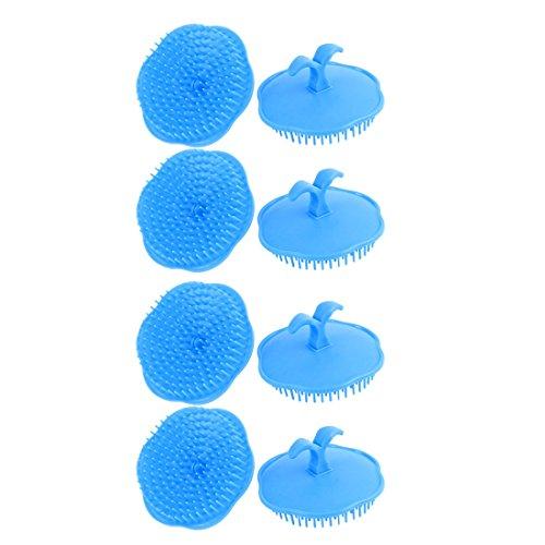 sourcingmap Cheveux shampoing douche massage brosse Peigne 8pcs
