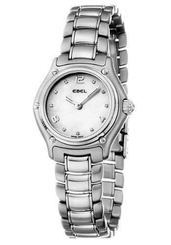 Ebel 9090211-19865P - Reloj de mujer de cuarzo, correa de acero inoxidable color plata