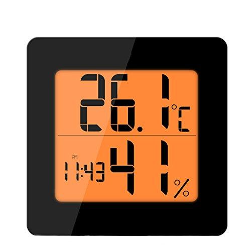 Kreative einfache quadratische Hintergrundbeleuchtung Wecker, Persönlichkeit LED-Display Schlafzimmer Nacht Nachtlicht Snooze Wecker (Color : Black) - Cd-player Mit Iphone-dock