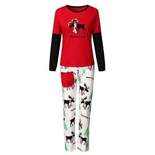 Weihnachten passende Familie Pyjamas Set Elf Elch Hirsch Dru Langarm T Shirts + Lange Hose Nachtwäsche Pjs Set Outfits ewear Christmas Papa Mama Kinder Baby Kleidung Set Xmas Kostüm (Günstige Christmas Carol Kostüm)