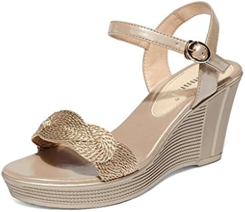 s CJC Talons Hauts Open Toe Talons Hauts Thin Élégantes High Heels Fashion Sexy Élégantes Thin Slope Plate-Forme Imperméable...B07DQM5QPNParent 01de81