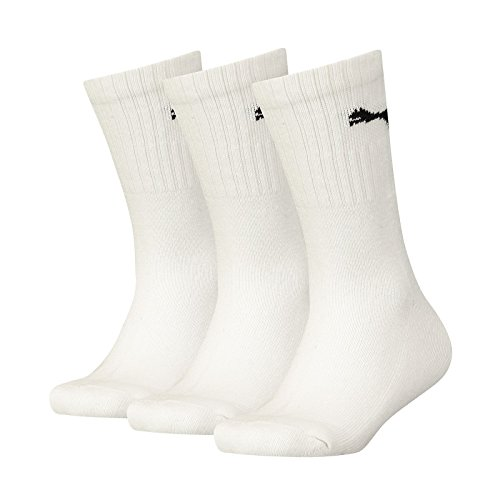 Puma Kinder Sport JUNIOR 3P Socken, White, 35-38 (3erPack)