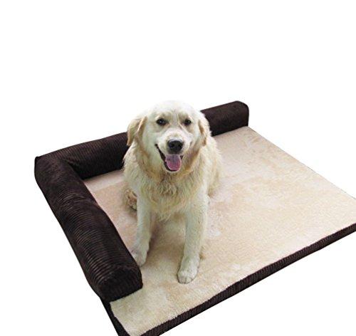 Yiiquan animale domestico cuccia divano letto per cani cuscino cane sfoderabile lavabile (marrone#1, asia s)