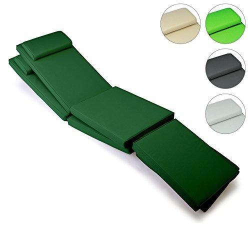 Nexos Divero 2er Set Sitzauflage Stuhlkissen Sitzpolster für Gartenmöbel Steamer Deckchair...