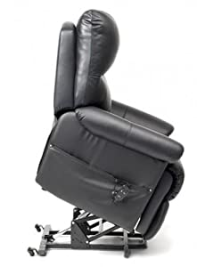 Borg Dual Motor Riser Recliner Chair Rise & Recline Armchair - Black