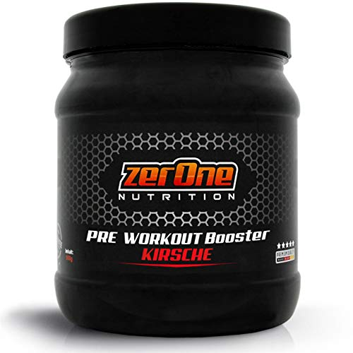 ZerOne Nutrition Workout Booster Hochdosiertes Pulver TOP Kilopreis Made In Germany | Leucin | Isoleucin | Valin 2:1:1 | Deutsche Premium Qualität | Ohne Gentechnik | 500g (Kirsche)